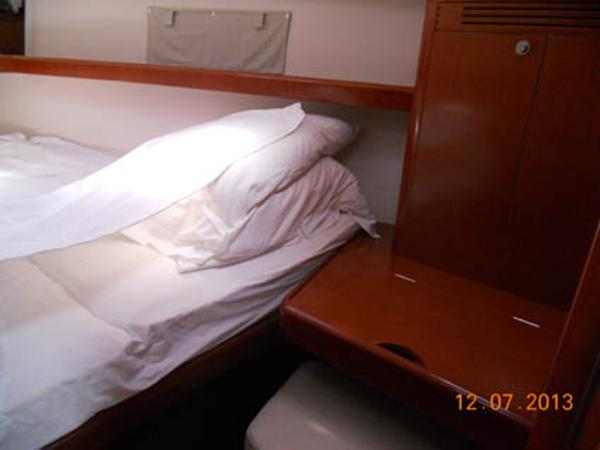 Forward cabin showing lengthened berth