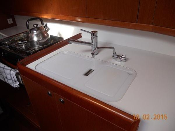 Galley with sink covers