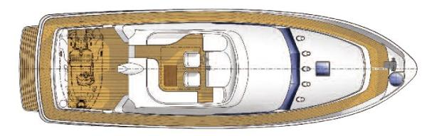 Manufacturer Provided Image: Hardy 50 Flybridge Layout Plan