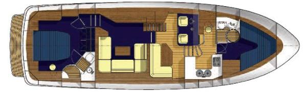 Manufacturer Provided Image: Hardy 50 Upper Deck Layout Plan