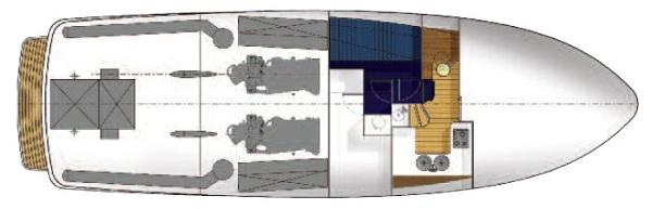 Manufacturer Provided Image: Hardy 50 Lower Deck Layout Plan