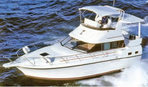 Silverton 34 Motor Yacht Stock Photo