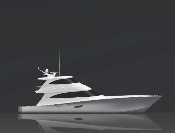 Viking 80 Enclosed Bridge (TBD) Starboard Profile