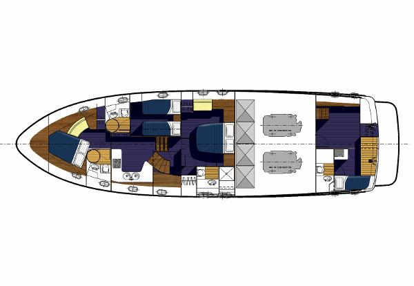 Manufacturer Provided Image: Hardy 62 Lower Deck Layout Plan