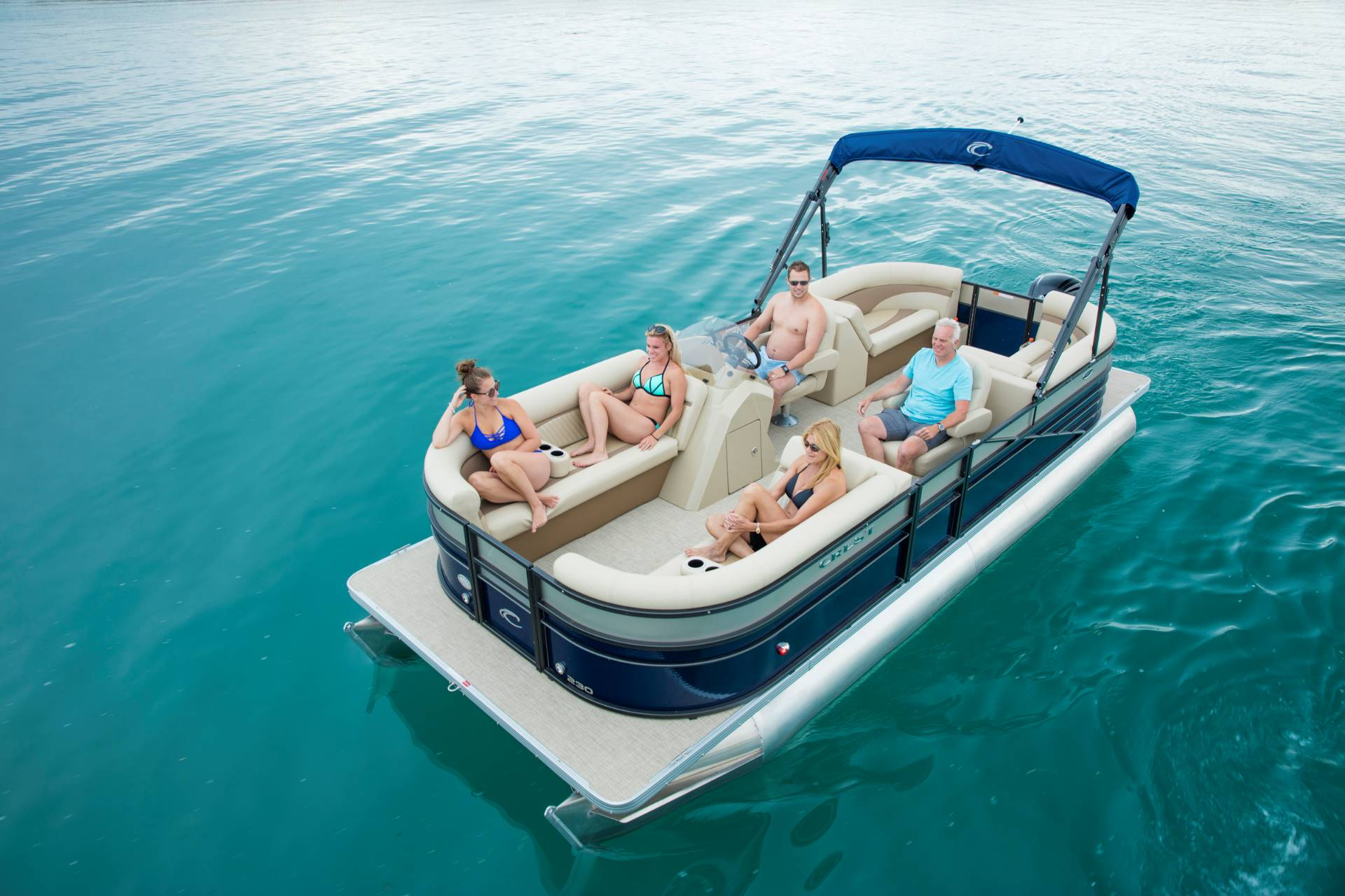 Crest Pontoon Boats Crest Ii