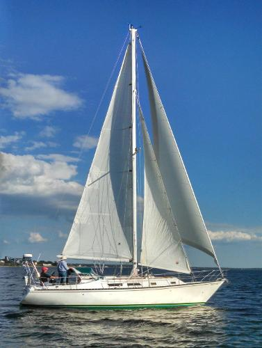Hunter Cherubini 37 Under sail