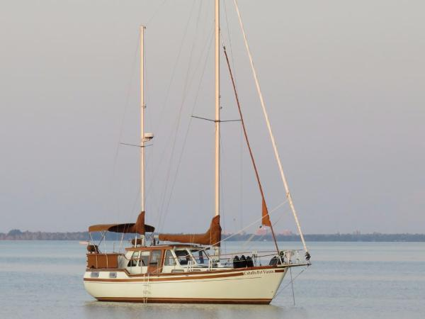 Nauticat 38 Pilothouse Cutter Ketch Starboard Profile