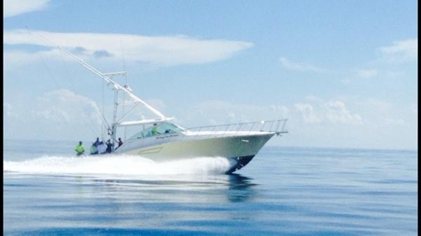 Cabo Yachts 45 Express Living The Dream starboard side