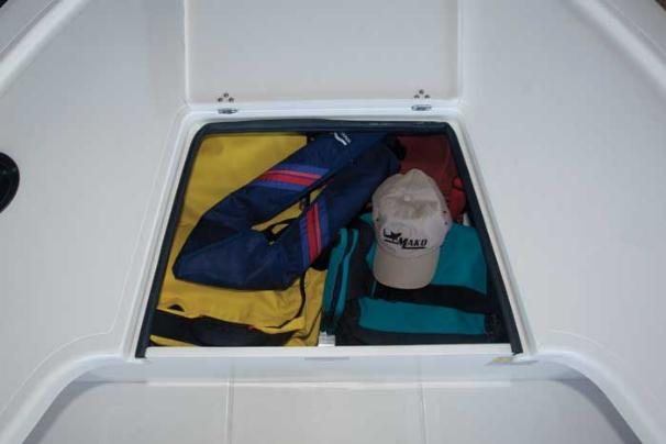 Manufacturer Provided Image: The bow storage compartment will keep your gear dry and out of the way.
