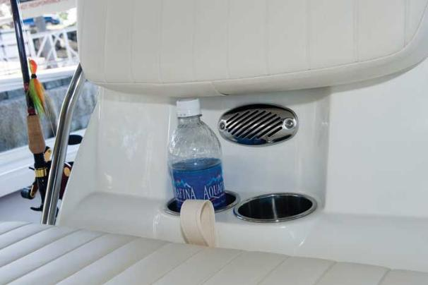 Manufacturer Provided Image: Stainless steel drink holders are located in front of the console.