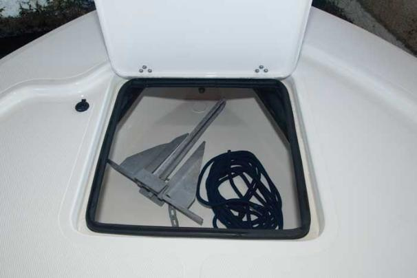 Manufacturer Provided Image: An anchor locker is located at the bow.