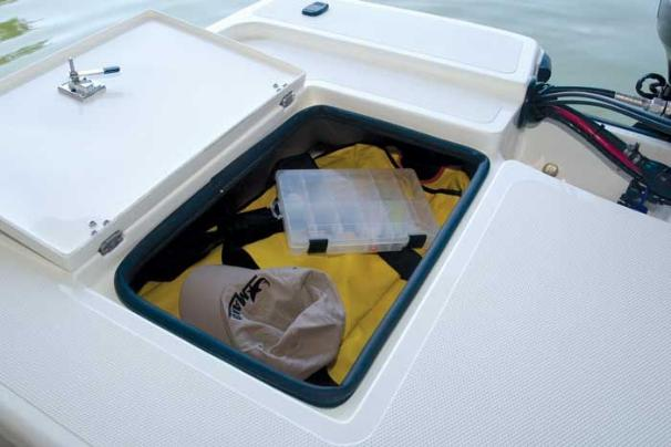 Manufacturer Provided Image: Keep your gear dry and secure in the aft storage compartments.