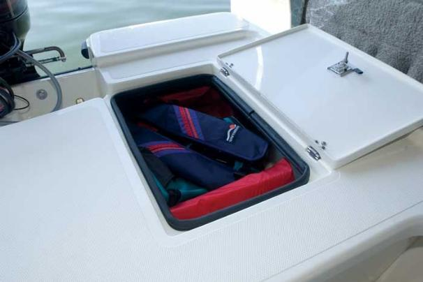 Manufacturer Provided Image: Aft storage compartments keep your gear close-by for when you need it.
