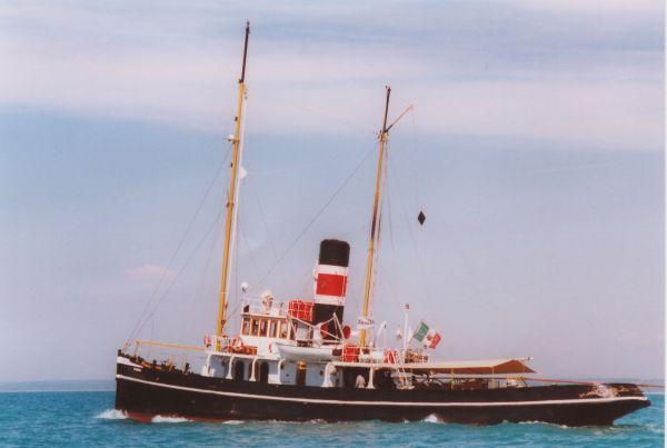"""Steam tug schooner 1895 """"Piro Rimorchiatore Goletta"""" Photo 1"""