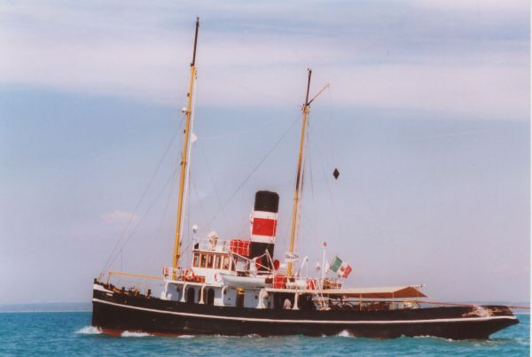 "Steam tug schooner 1895 ""Piro Rimorchiatore Goletta"" Photo 1"