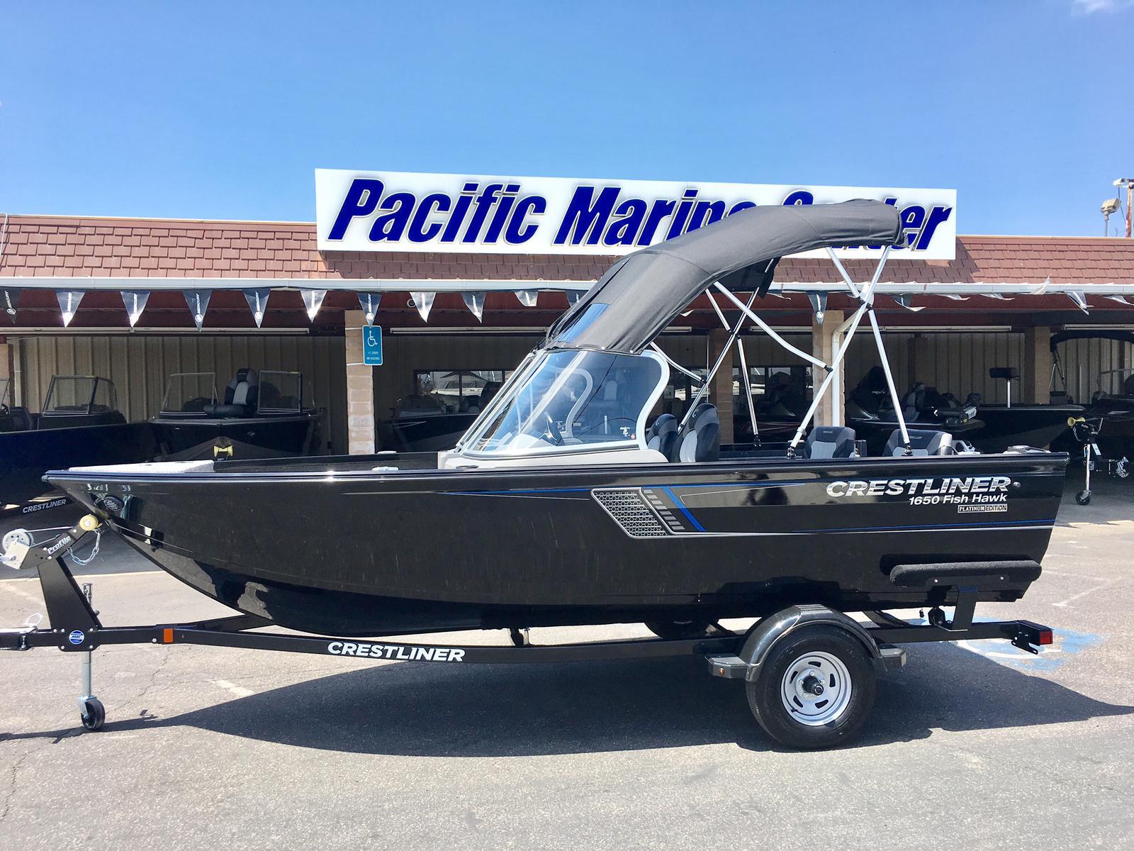Crestliner 1650 Fish Hawk WT-Mercury 60hp