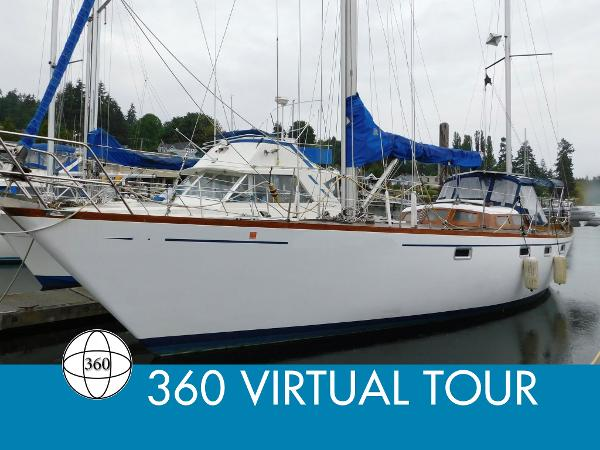 Custom Luengen 43 Offshore Ketch Pilothouse Main