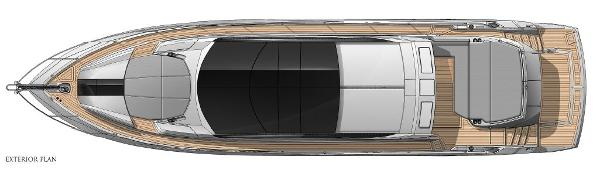 Sunseeker Predator 68 Exterior Layout Plan