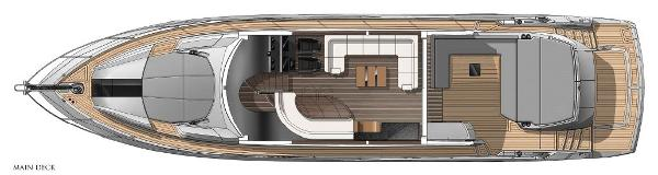 Sunseeker Predator 68 Main Deck Layout Plan