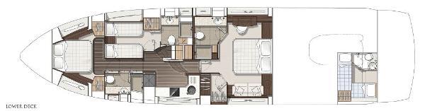 Sunseeker Predator 68 Lower Deck Layout Plan