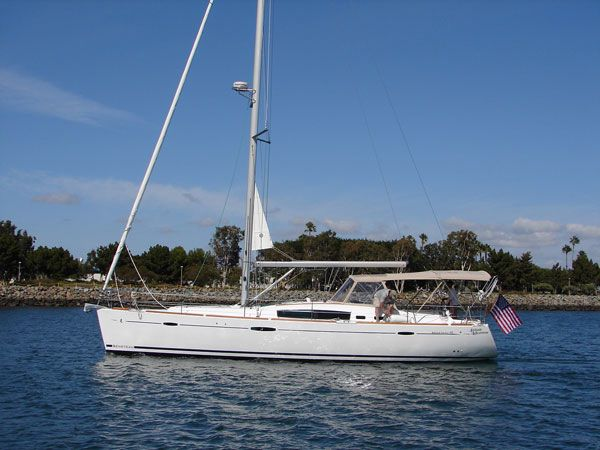 "Beneteau 46 ""Attitude Adjustment"" heading out"