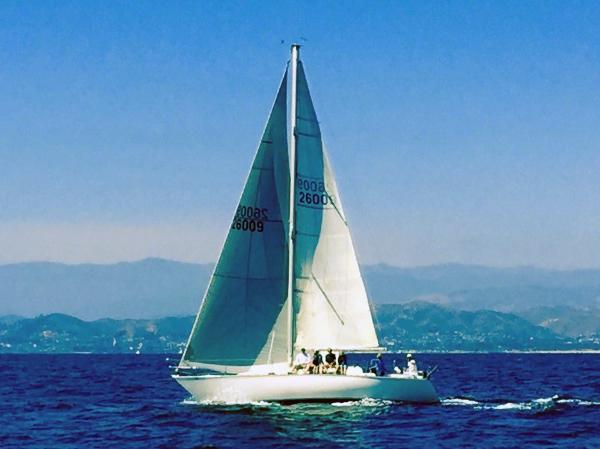 C&C 36 Mahalo Under Sail
