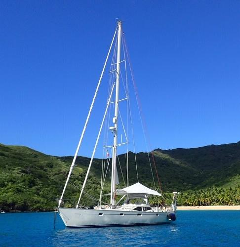 Oyster 56 Anchored up