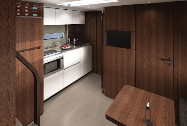 Fairline Squadron 48 Galley