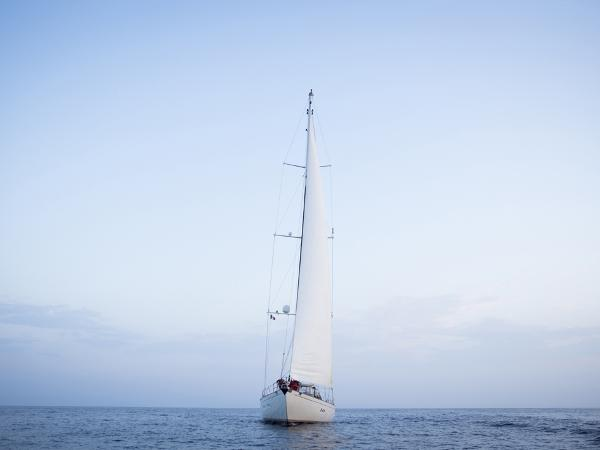 Cold moulded 28 m sloop forward
