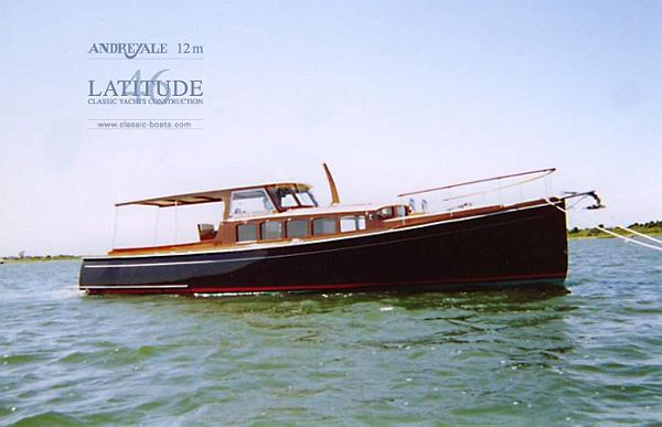 Latitude 46 Andreyale 12m Side View