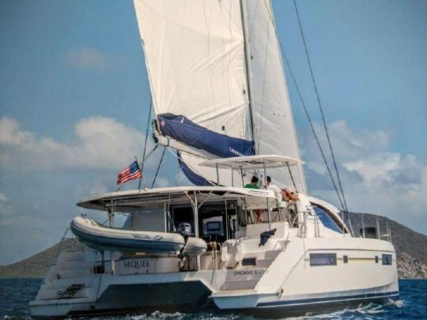 Leopard 48 Under Sail w/dinghy