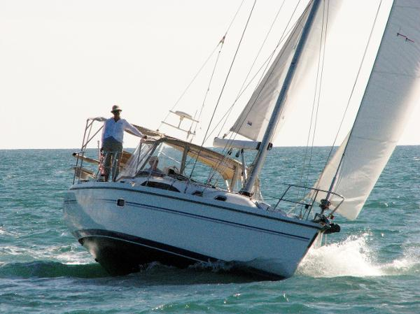 Catalina 375 Lila Jean on starboard tack