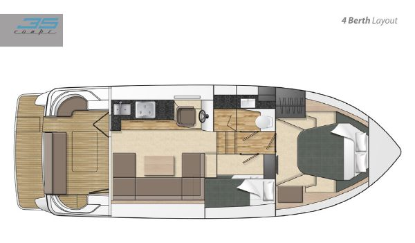 Broom 35 Coupe Layout 4 Berth