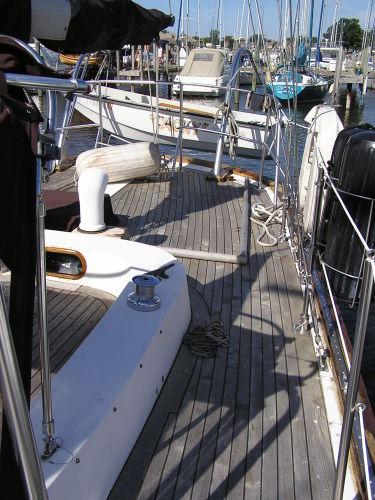 Aft port quarter deck