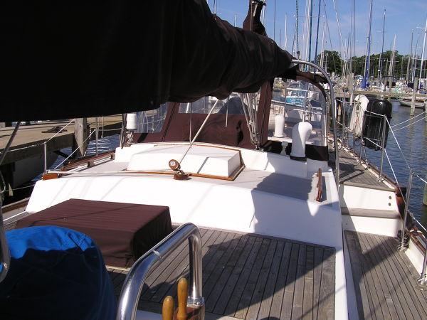 Looking aft from the mast area