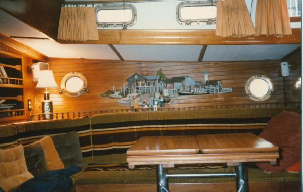 Starboard side of main cabin