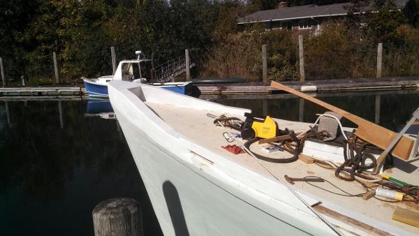 New Construction of Toe Rail on Bow