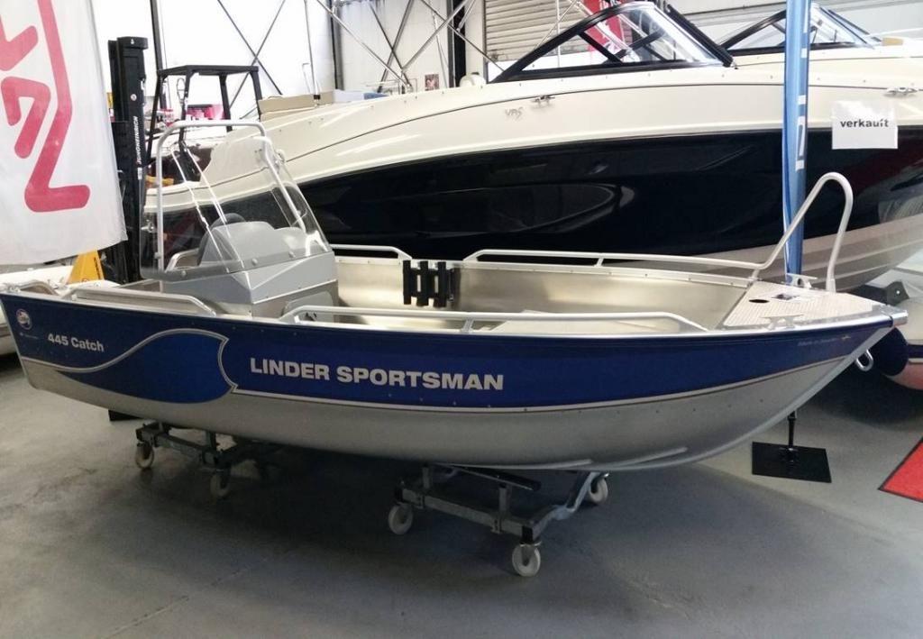 Linder 445 Sportsman Catch mit 20 PS  AluBoot
