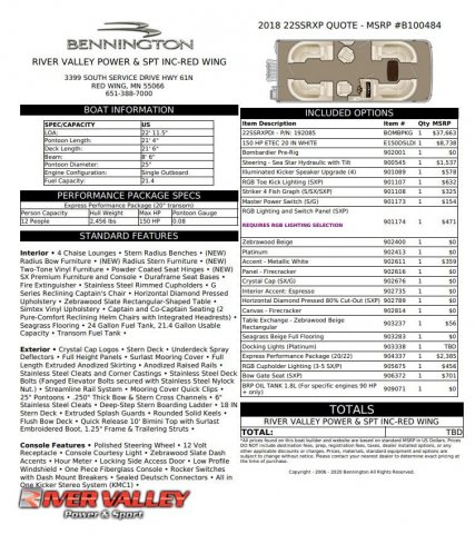 Bennington 22SSRXP
