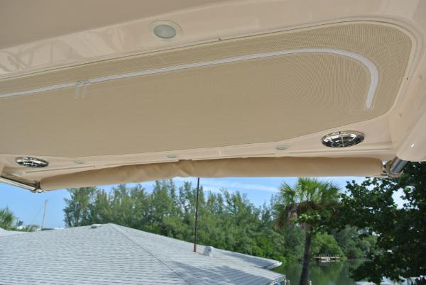 Life Jacket storage & retractable shade