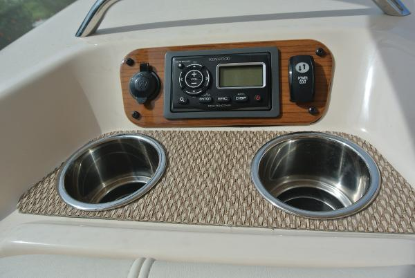 Radio controls & cup holders