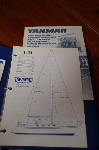 Owner's Manuals for Tartan and Yanmar