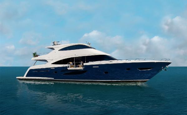 Viking 93 Motor Yacht Starboard Side