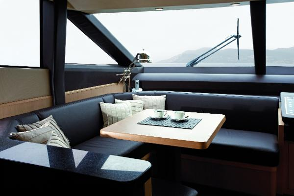 Princess Flybridge 85 Motor Yacht Breakfast Area