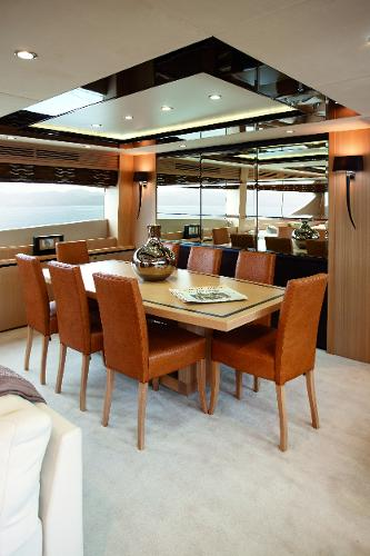 Princess Flybridge 85 Motor Yacht Dining Area