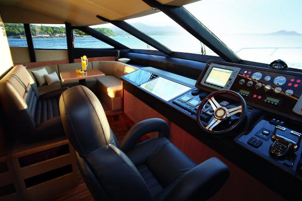 Princess Flybridge 85 Motor Yacht Helm