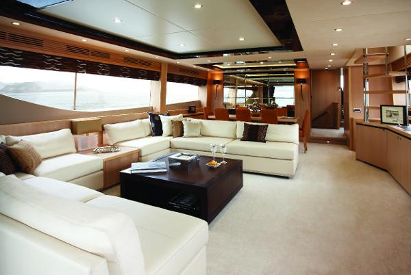 Princess Flybridge 85 Motor Yacht Saloon