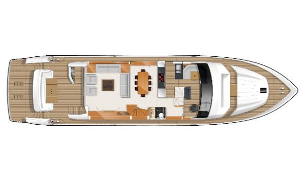 Princess Flybridge 85 Motor Yacht Optional Deck Layout