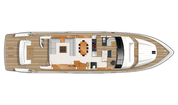 Princess Flybridge 85 Motor Yacht Deck Layout