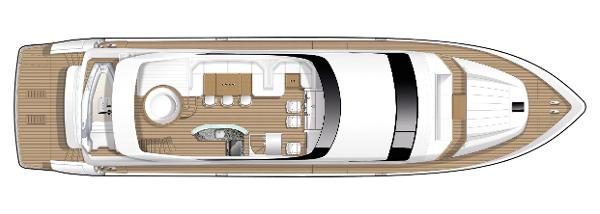 Princess Flybridge 85 Motor Yacht Flybridge Layout
